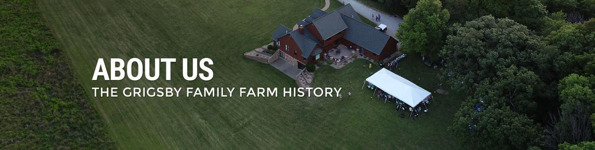 About Us banner for Grigsby Farms